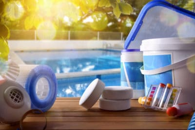 Swimming Pool cleaning supplies.