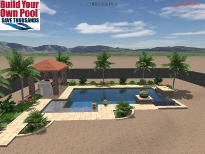 BYOP created a 3D rendering for the Frazier family's swimming pool plan.