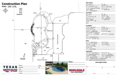 Allen family swimming pool construction plan.