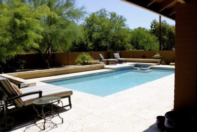 Wilkinson family backyard with a swimming pool designed by Build Your Own Pool.