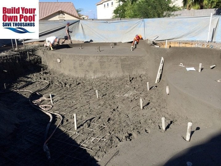 Shotcrete refers to wet concrete that's already fully mixed before it's shot out of a hose.