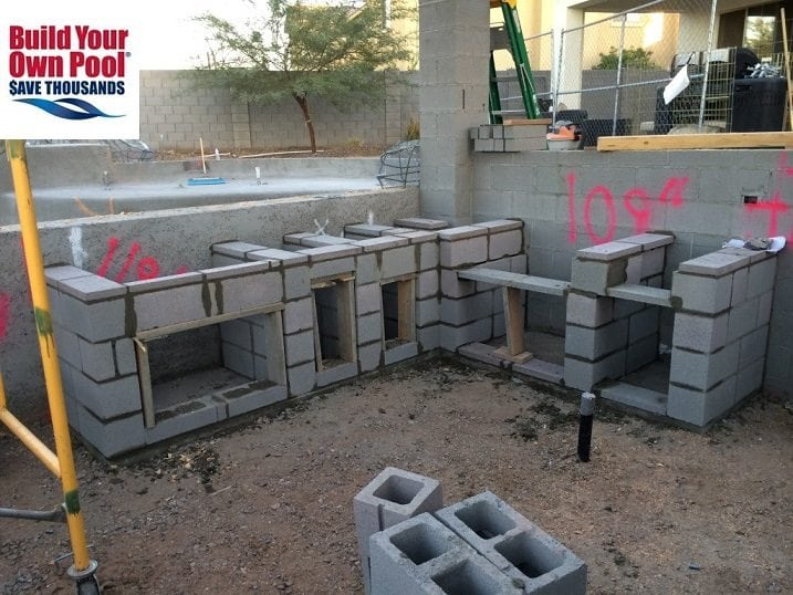 Shotcrete that will be used as the floor and walls in a swimming pool being built in Austin, Texas.