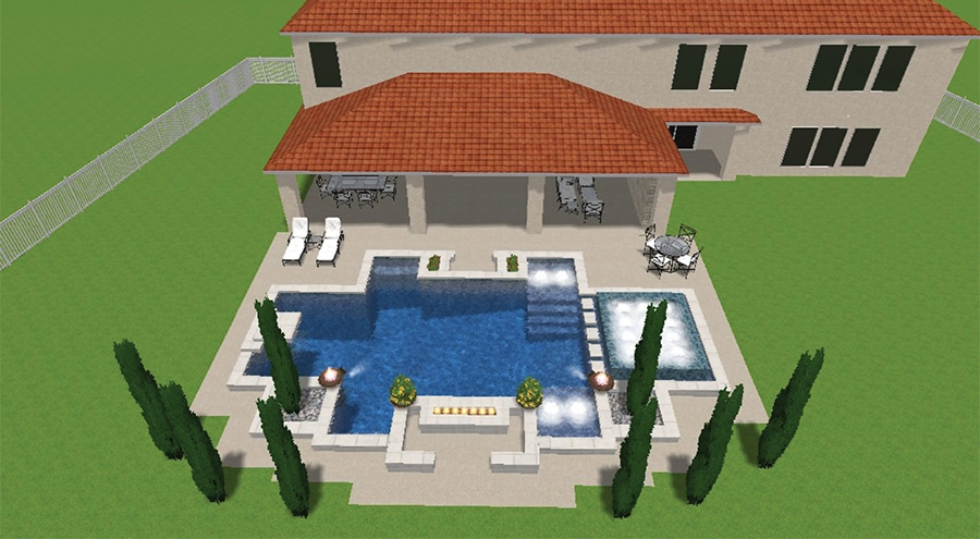 3-D pool design for Smith family